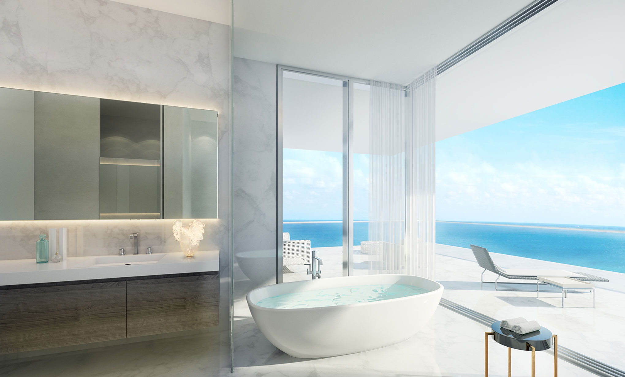 Penthouse At Latelier Residences Miami Beach on beach house interiors