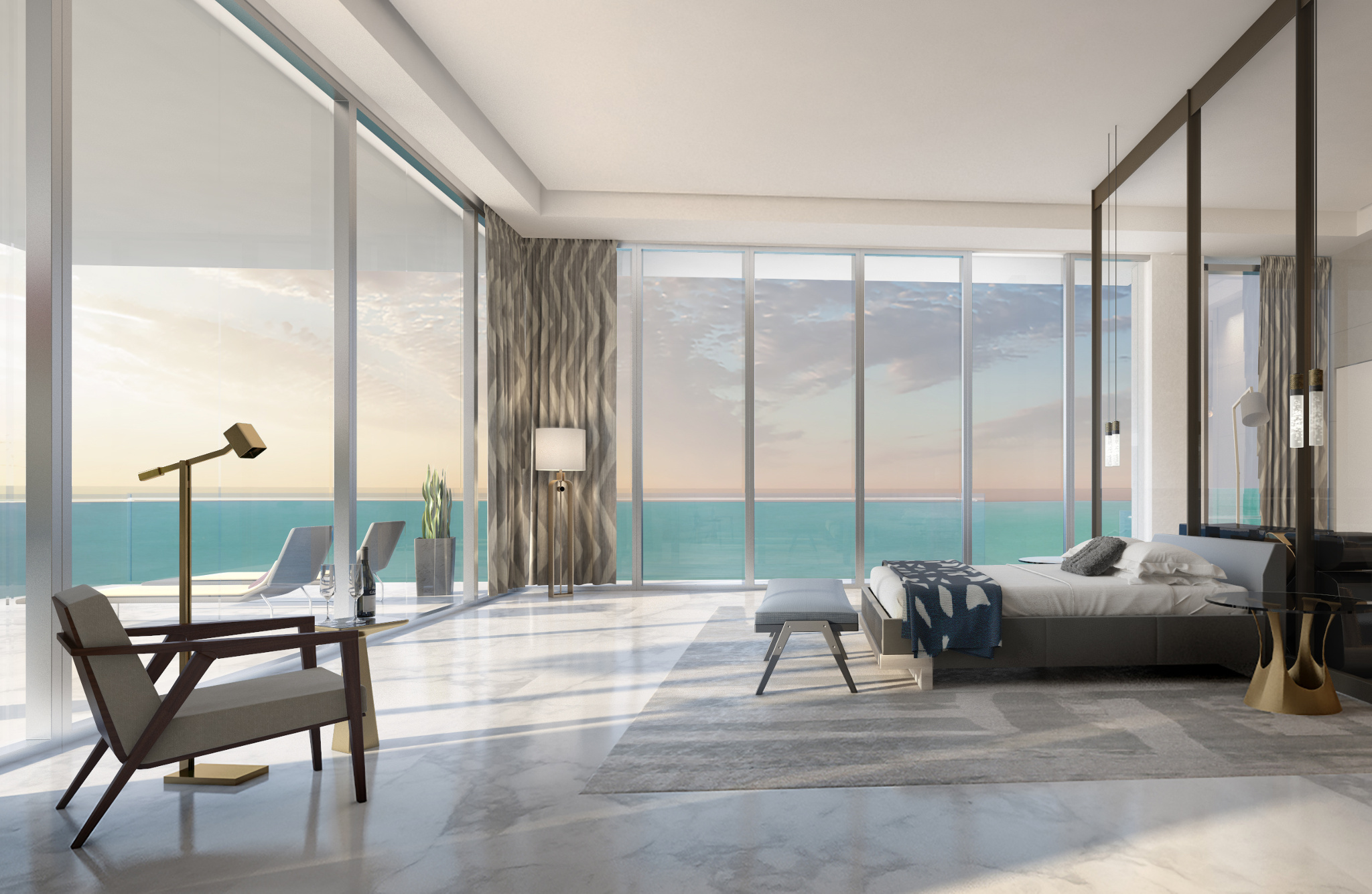 Penthouse at L'Atelier Residences, Miami Beach - Bedroom