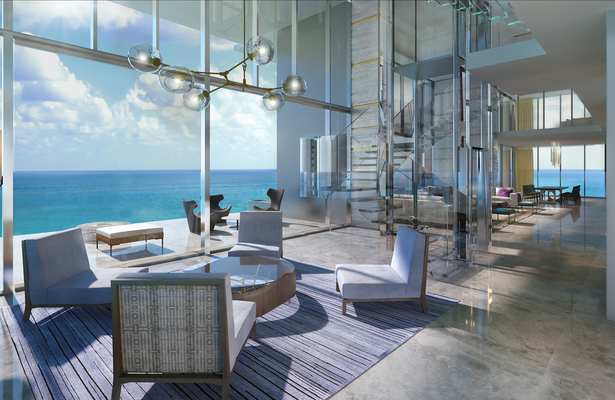Etonnant Penthouse At Lu0027Atelier Residences, Miami Beach   Interiors