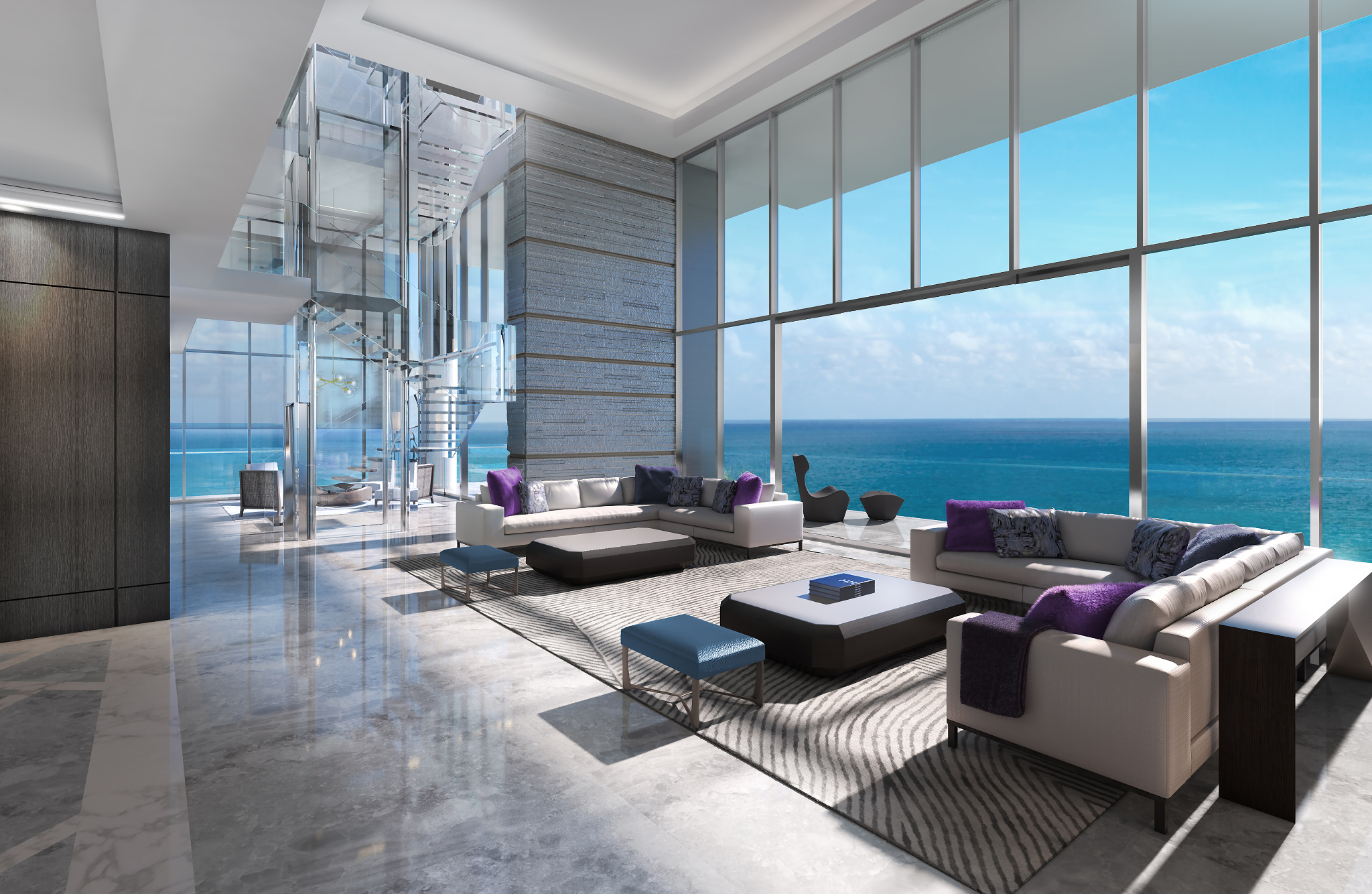 Bathrroms Penthouse At L Atelier Residences Miami Beach Most