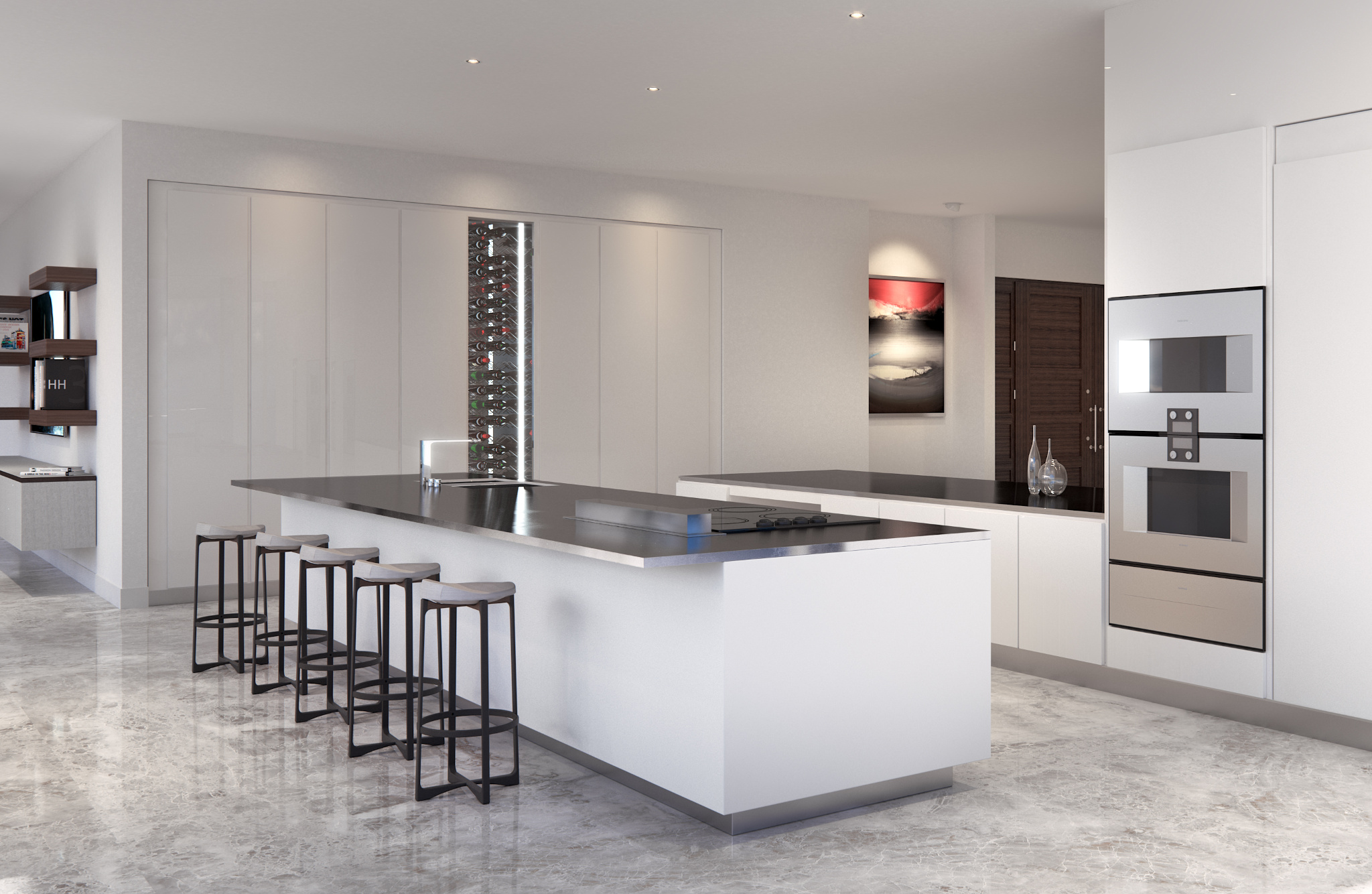 Penthouse at L'Atelier Residences, Miami Beach - Kitchen