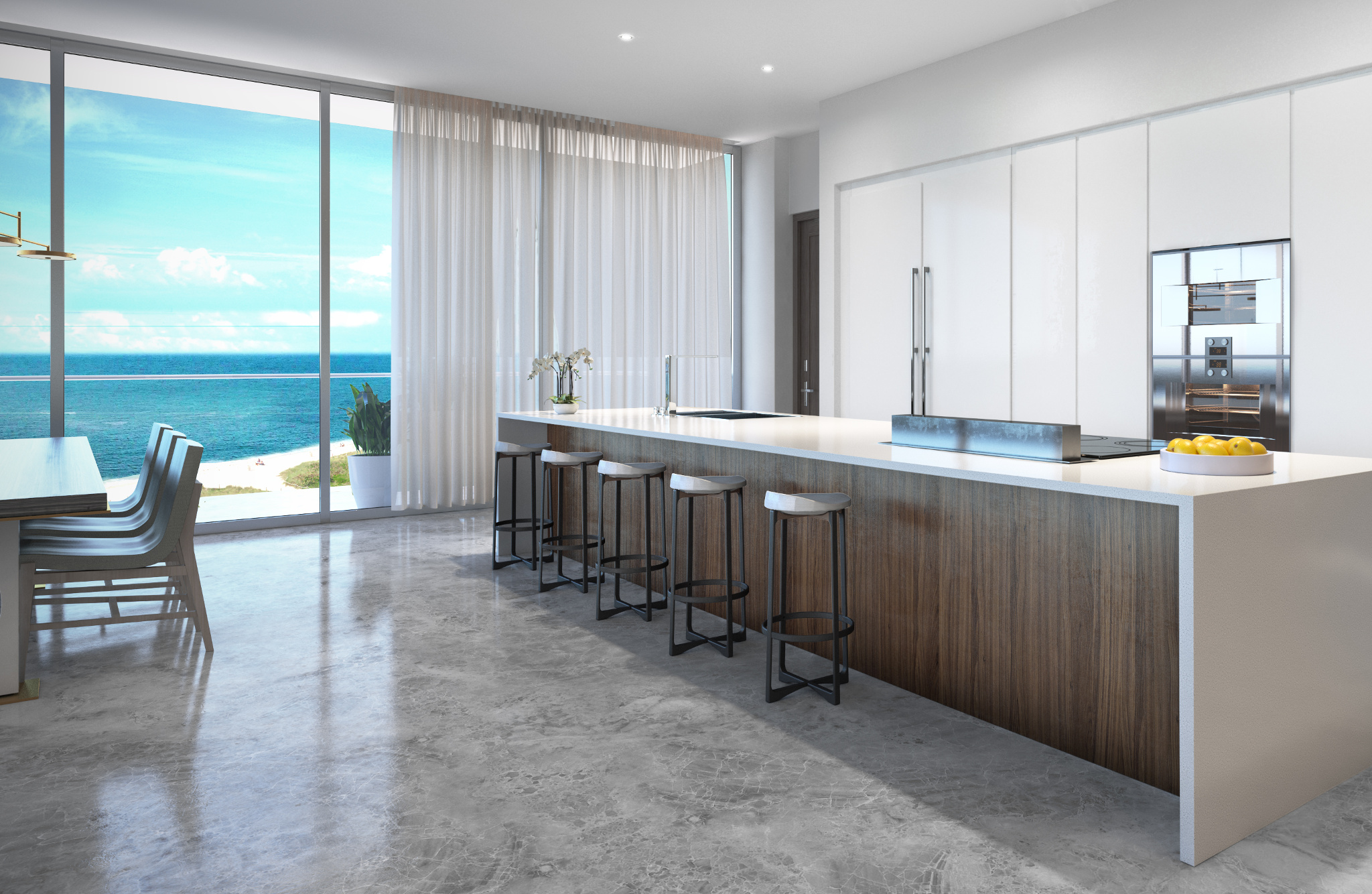 Penthouse at L'Atelier Residences, Miami Beach - Kitchen ...