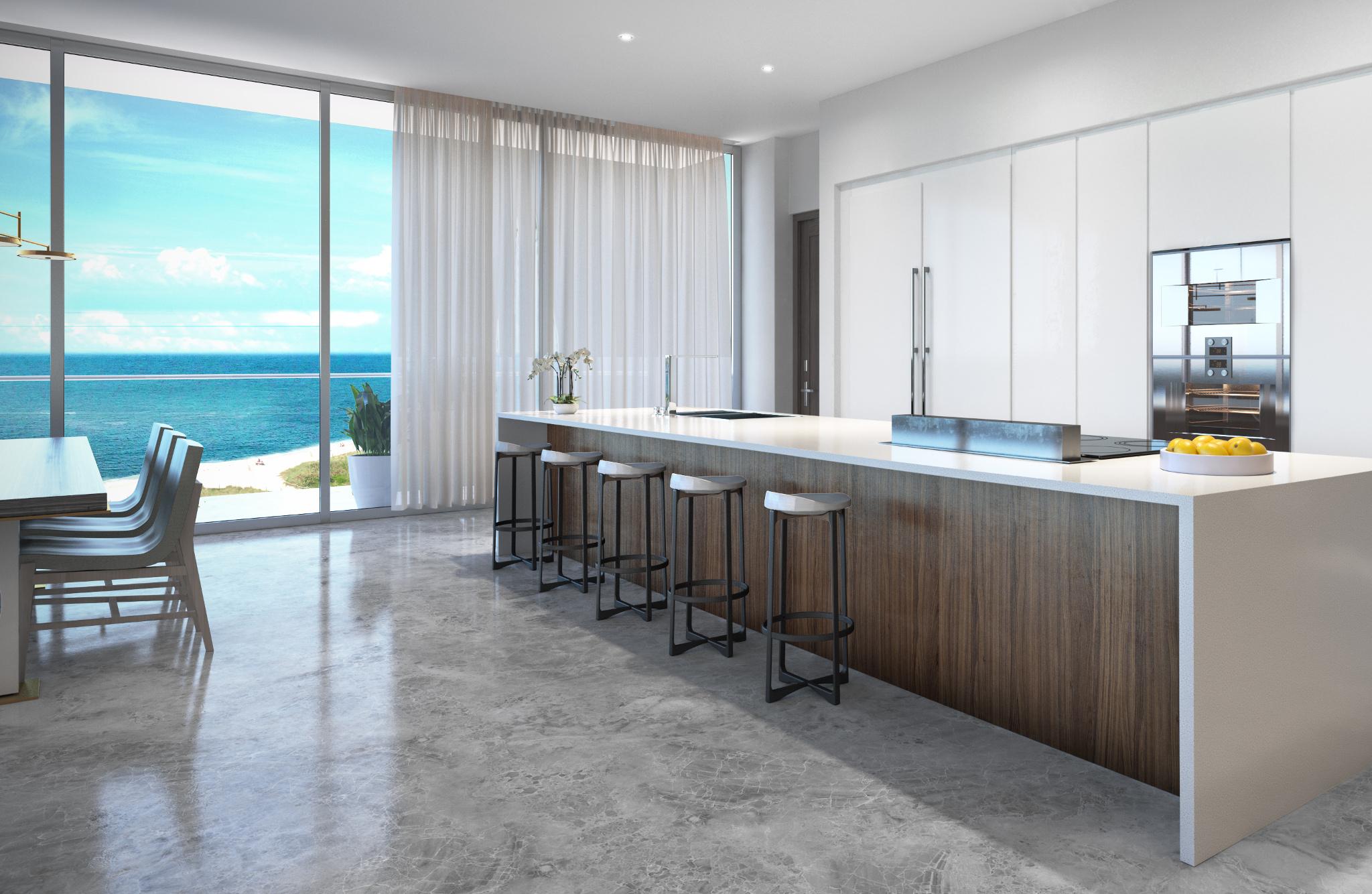 Penthouse at L'Atelier Residences, Miami Beach - Kitchen