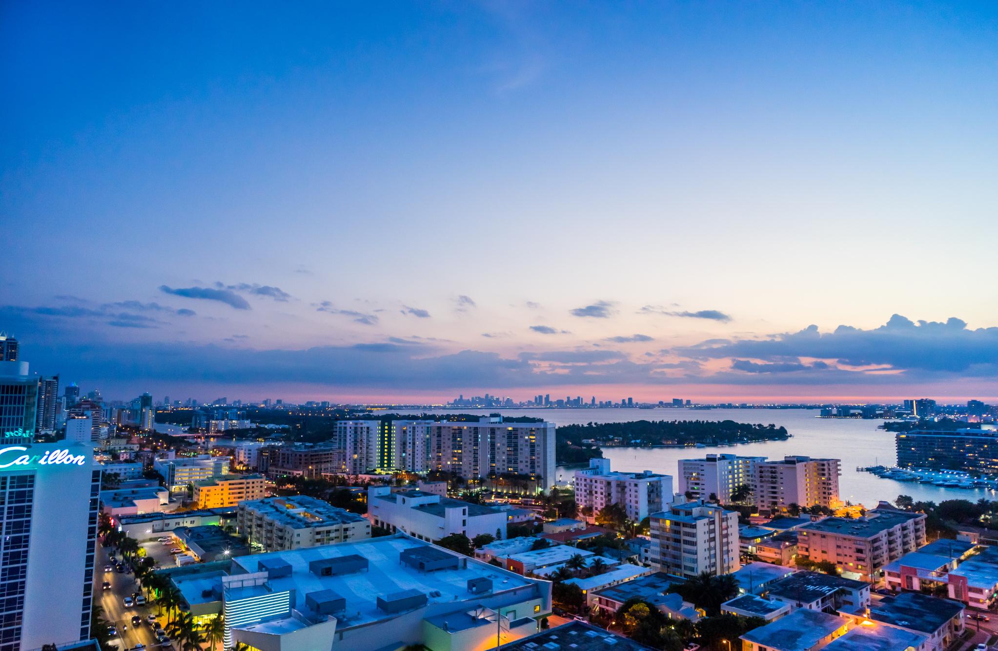 Penthouse at L'Atelier Residences, Miami Beach - Downtown view