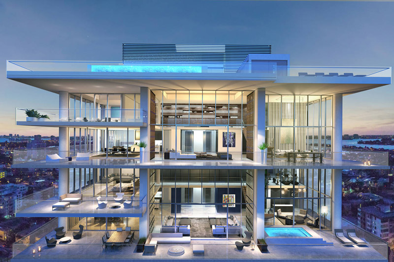Penthouse at L'Atelier Residences, Miami Beach - Penthouse view