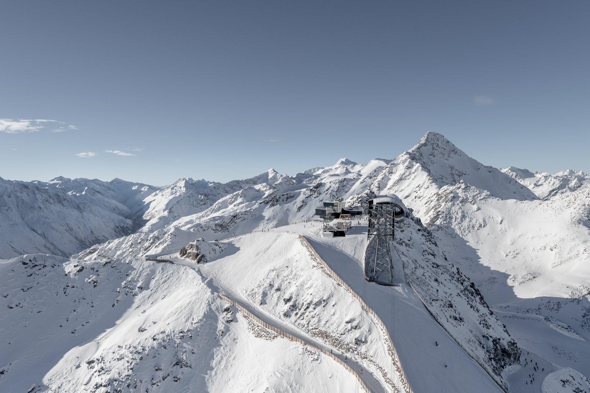 Austria - ice Q restaurant bird view