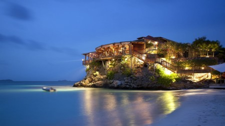 Eden Rock St Barths dining romantic restaurant