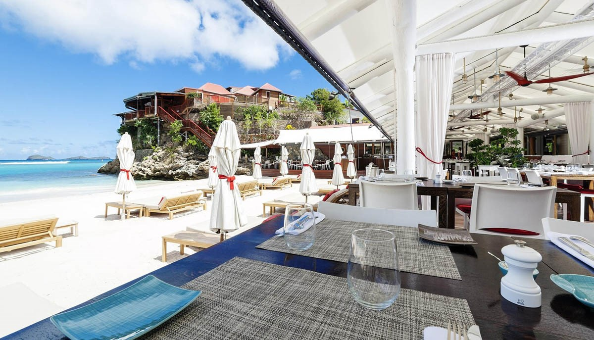 Eden Rock St Barths beach restaurant