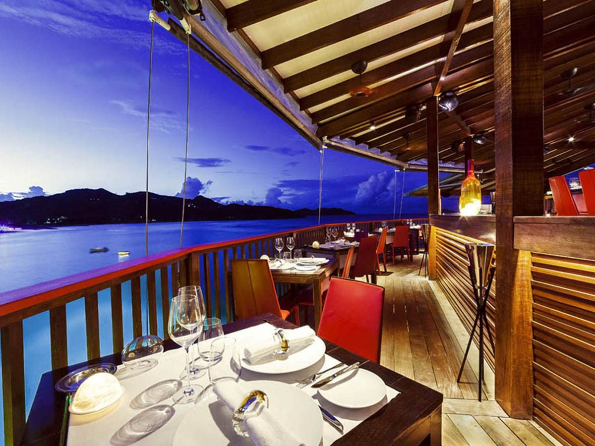 Eden Rock St Barths romantic dining