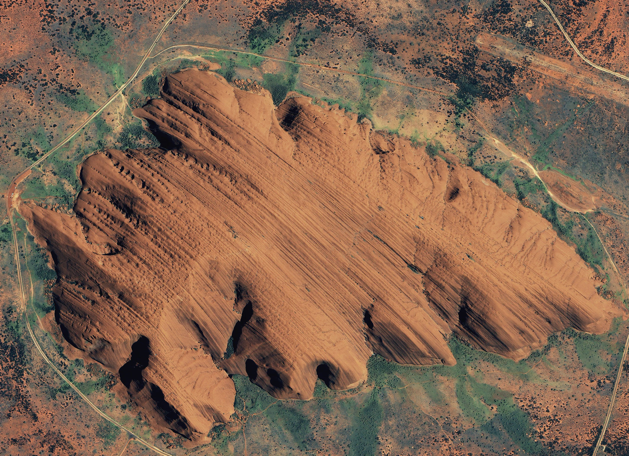 Ayers Rock Uluru from space