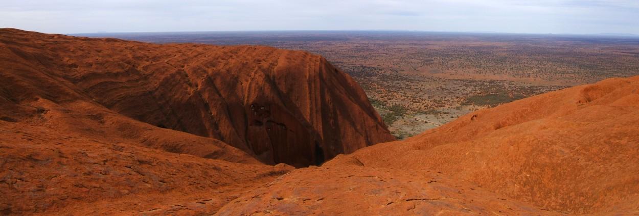 Ayers Rock Uluru panorama from top