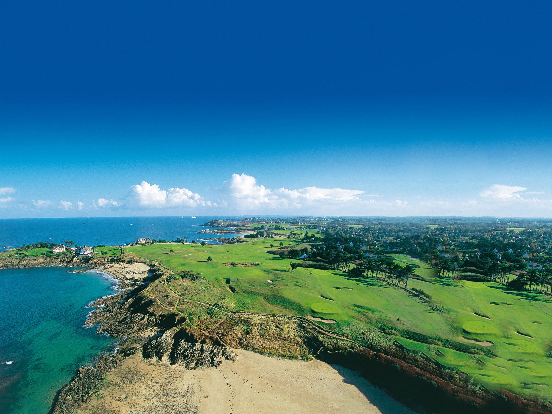 Dinard golf aerial view, Britanny, France