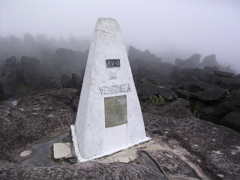 Mount Roraima, Venezuela Triple Point border