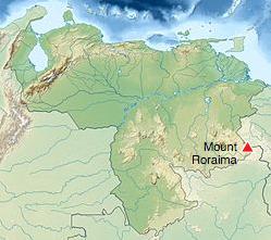 Mount Roraima map Venezuela