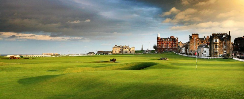 St Andrews old golf course, Scotland, UK
