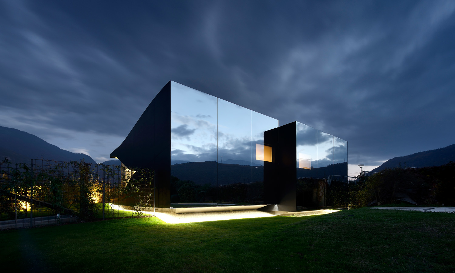 Mirror Houses by night