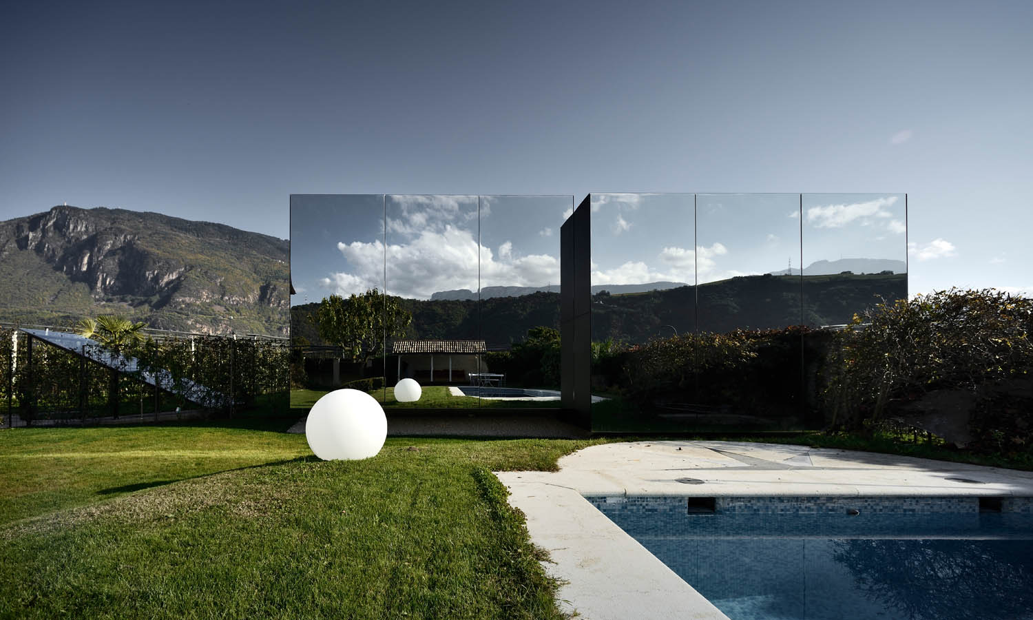 Mirror Houses from garden