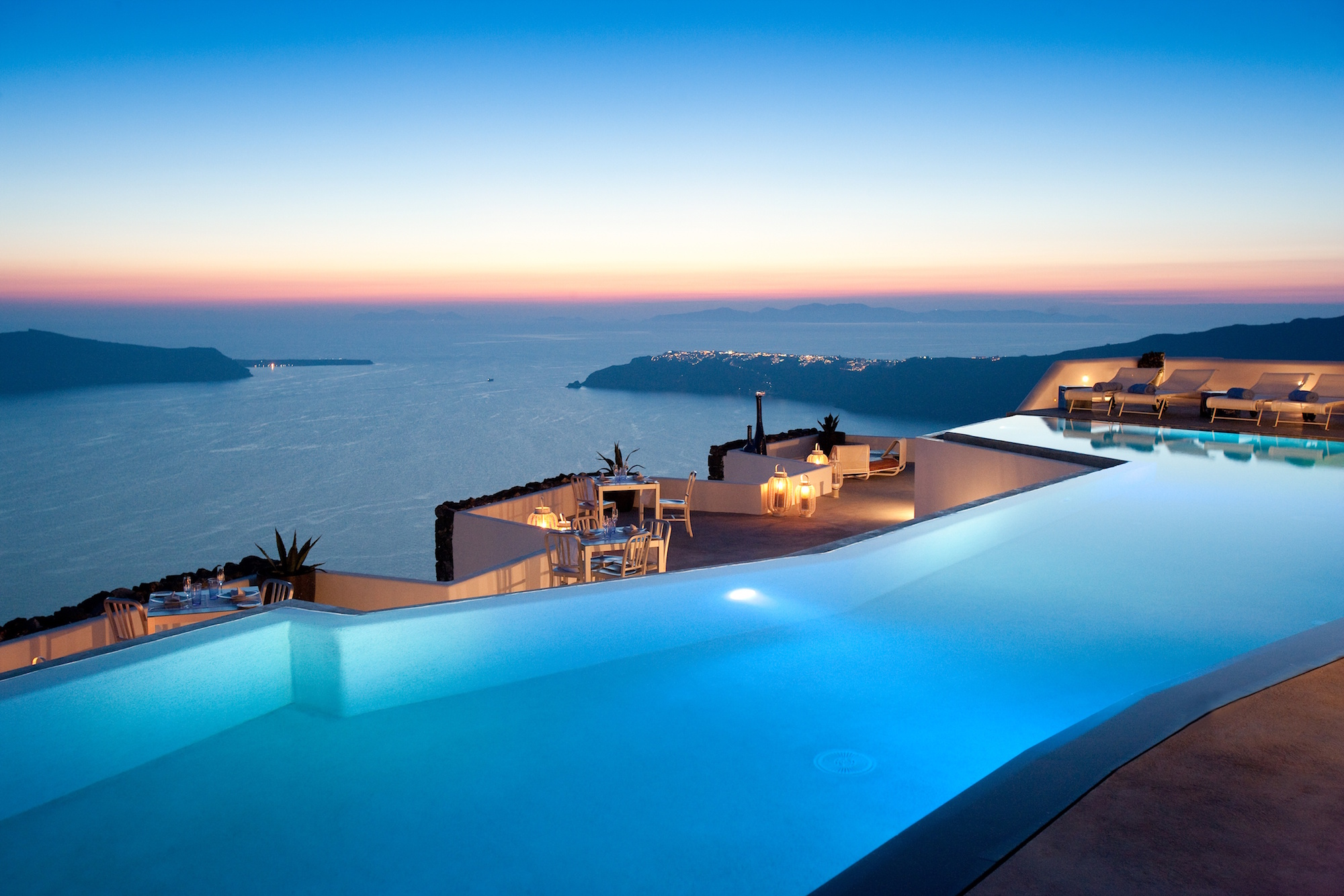 Santorini amazing outdoor pool