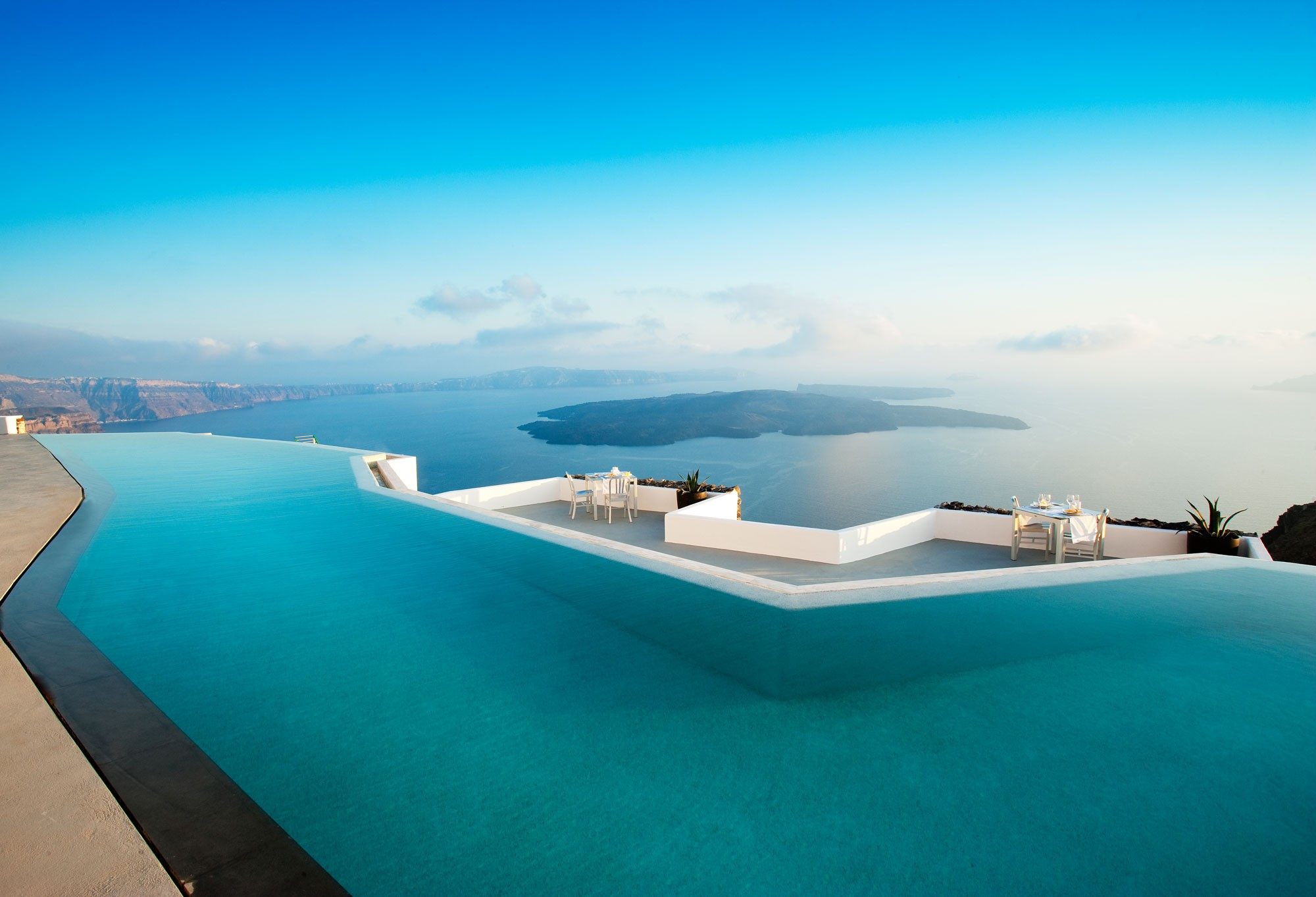 Santorini beautiful pool