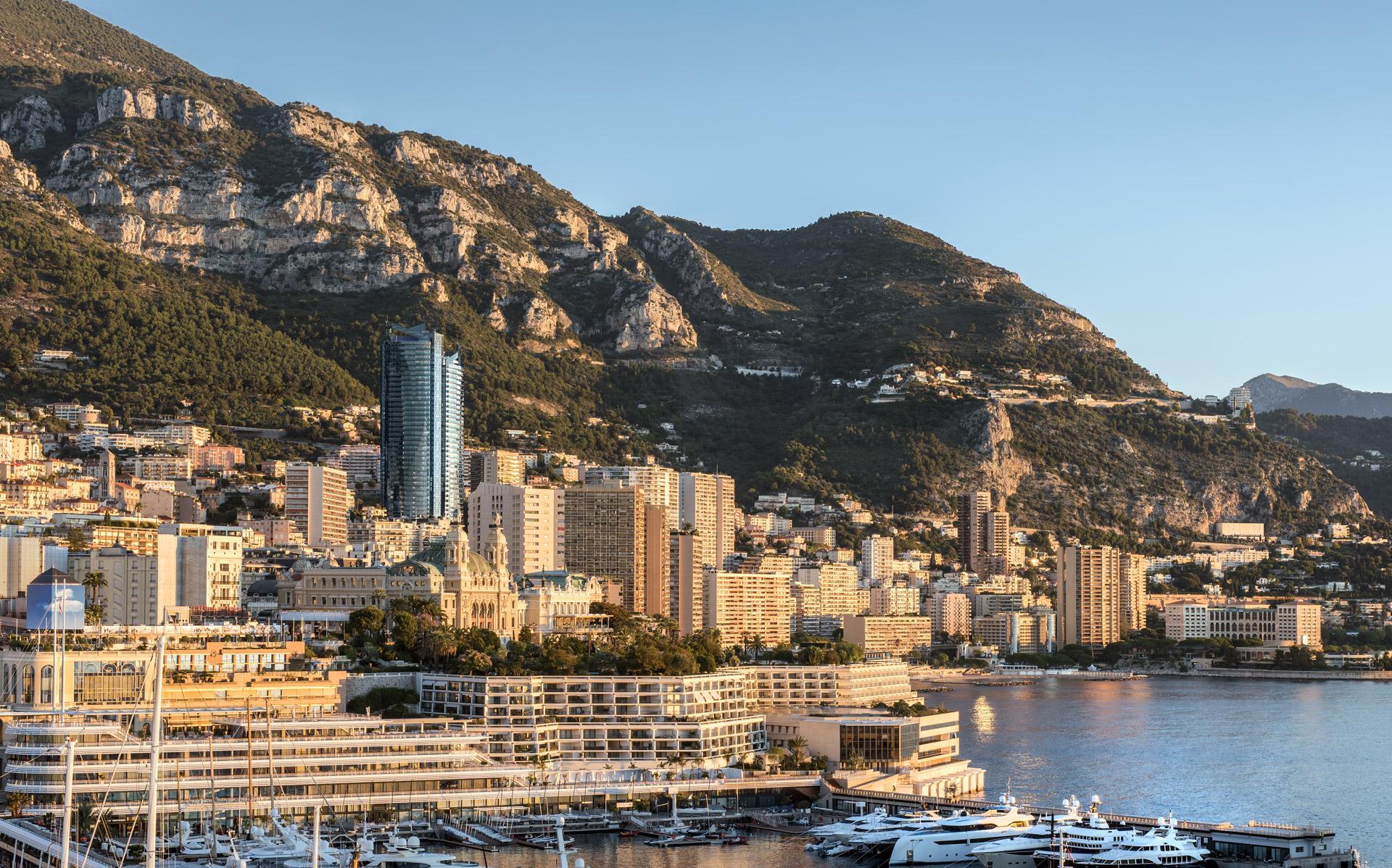 Tour Odéon dominating Monaco