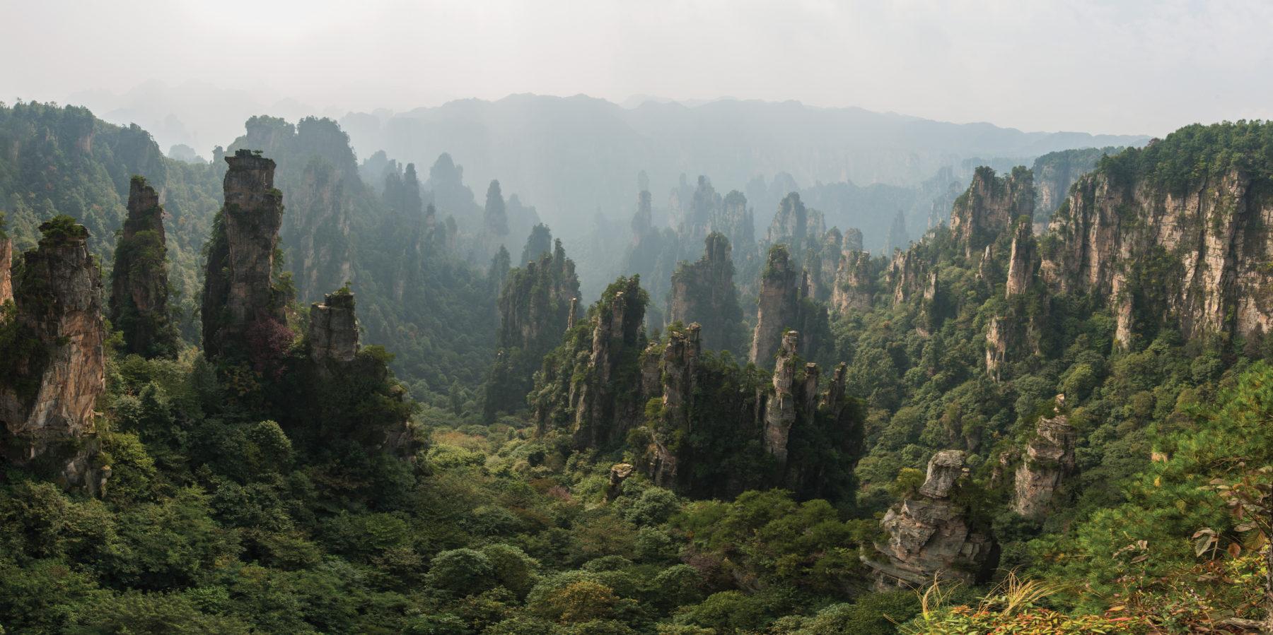 Zhangjiajie National Forest Park, China. Photo: Chensiyuan.