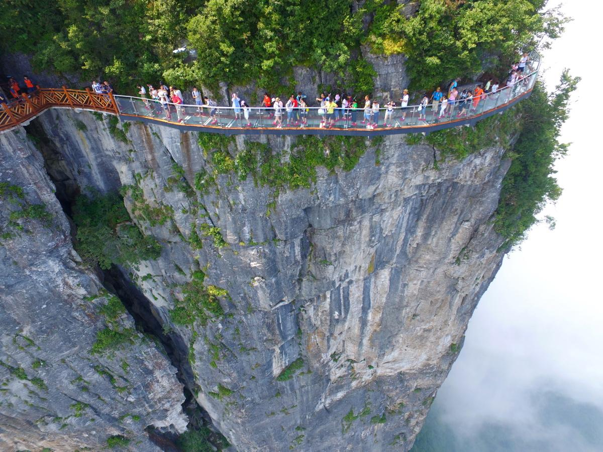 Glass skywalk, Zhangjiajie National Forest Park, China