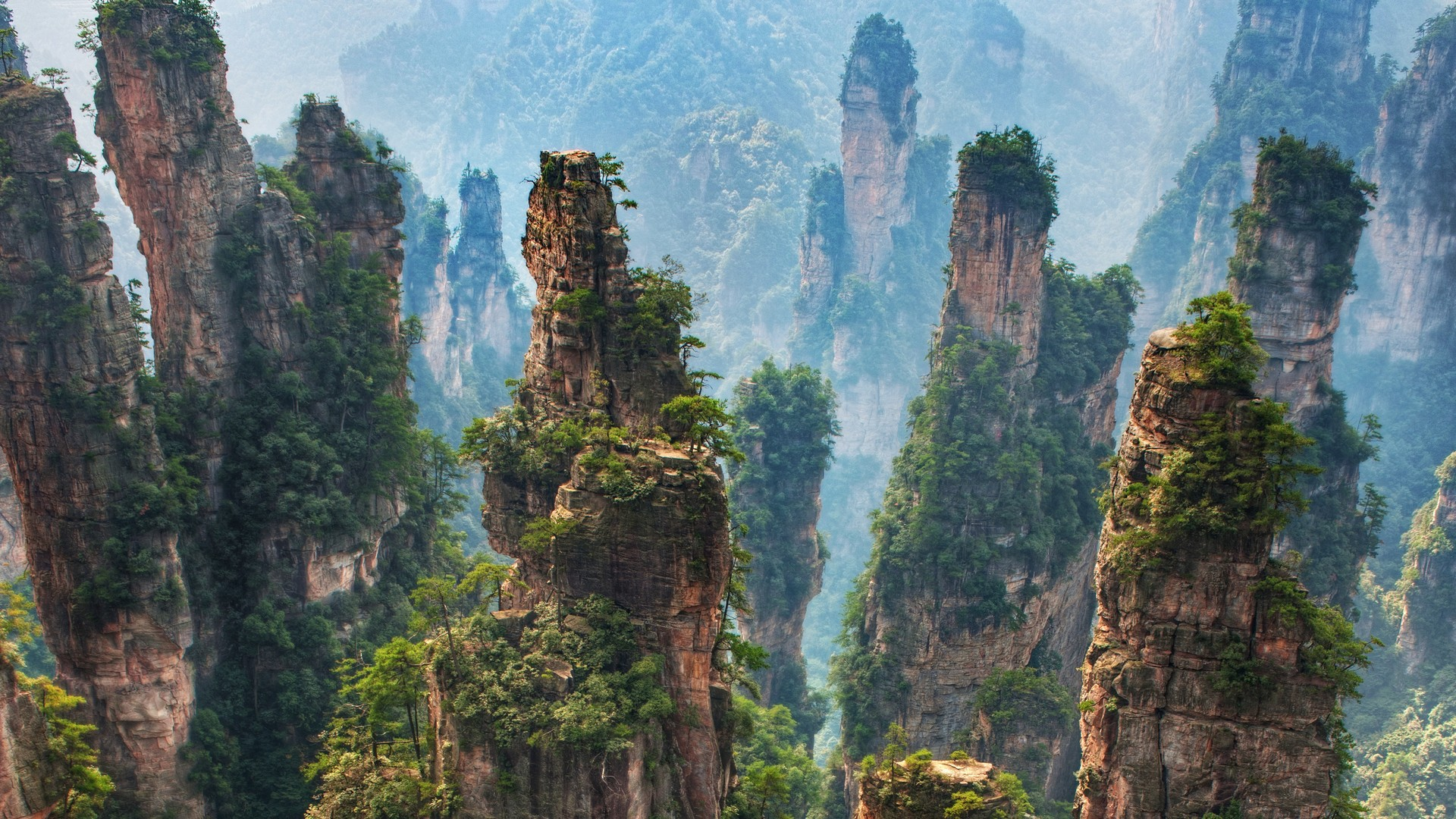 Célèbre Zhangjiajie National Forest Park, China - Most Beautiful Spots QV54