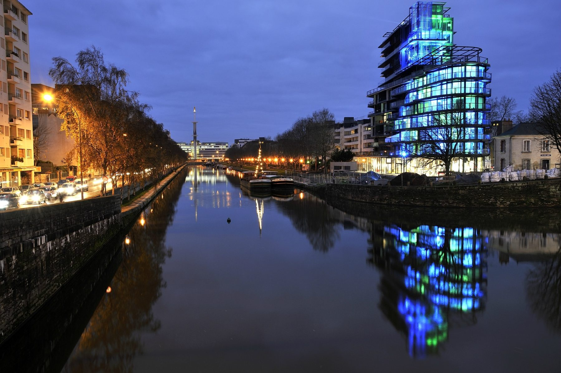 Cap Mail by night, Rennes - Alain Rehault