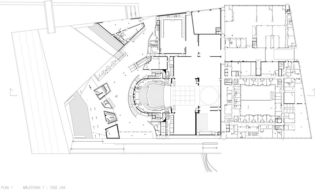 Oslo Opera House - floor plan