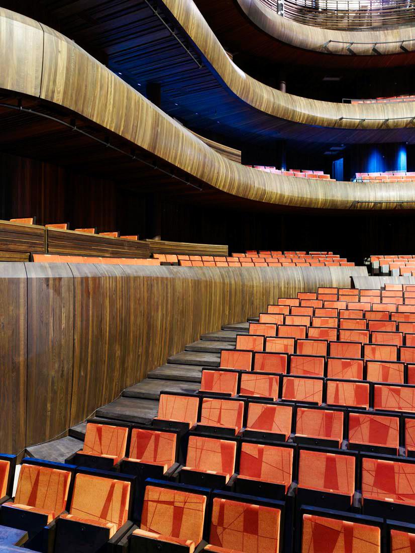Oslo Opera House main stage seats - Snohetta