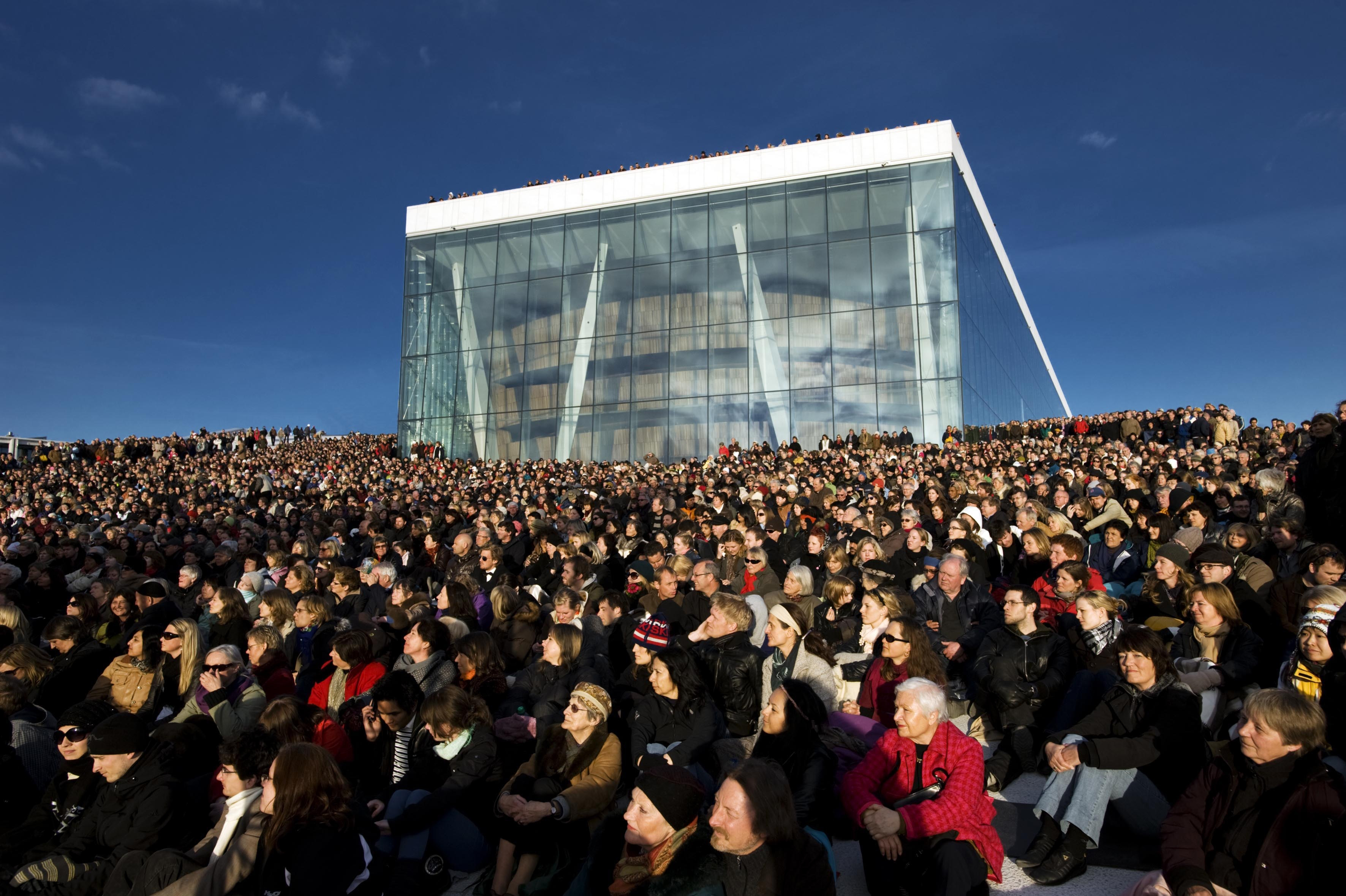 Oslo Opera House outdoor concert