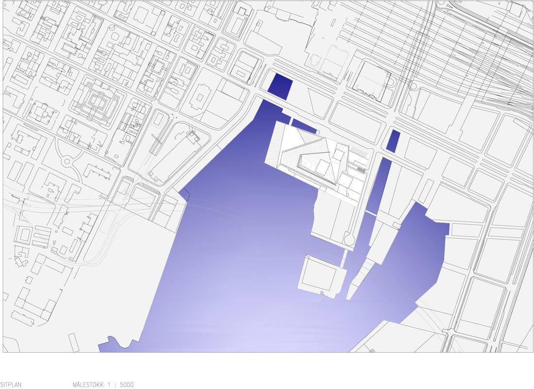 Oslo Opera House - situation plan. By Snohetta.