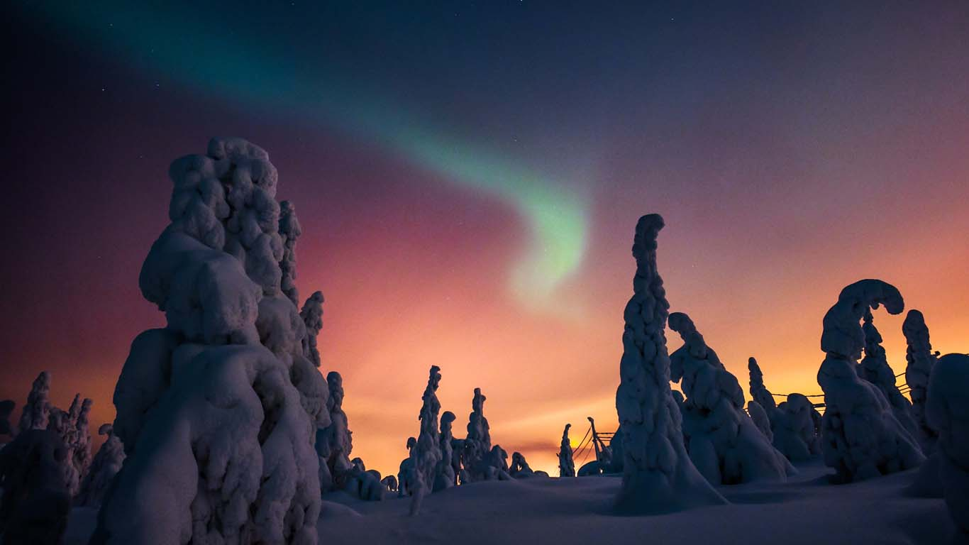 Kakslauttanen - aurora