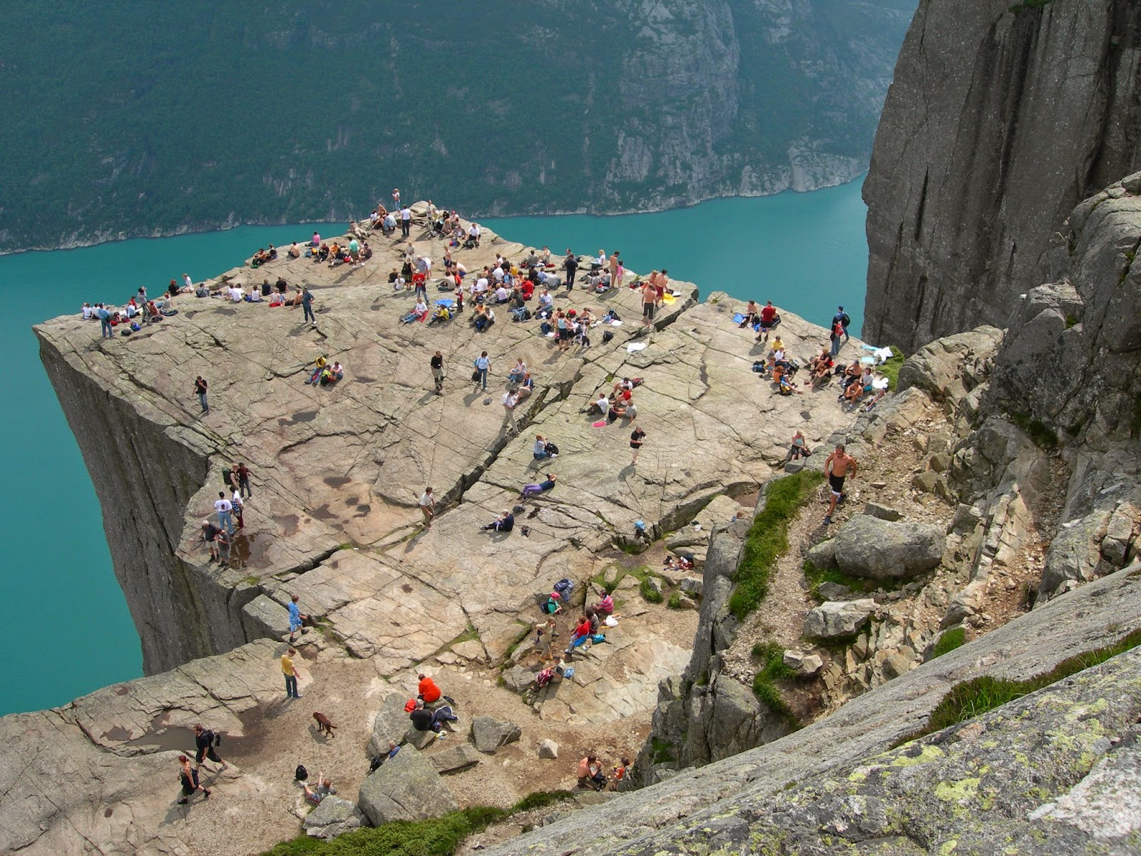 People on Preikestolen, Norway