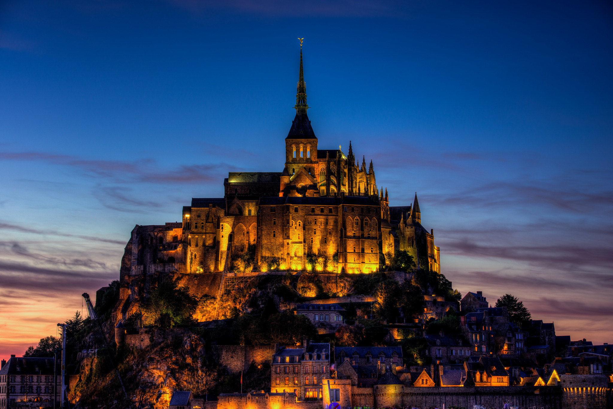 Mont Saint-Michel by night