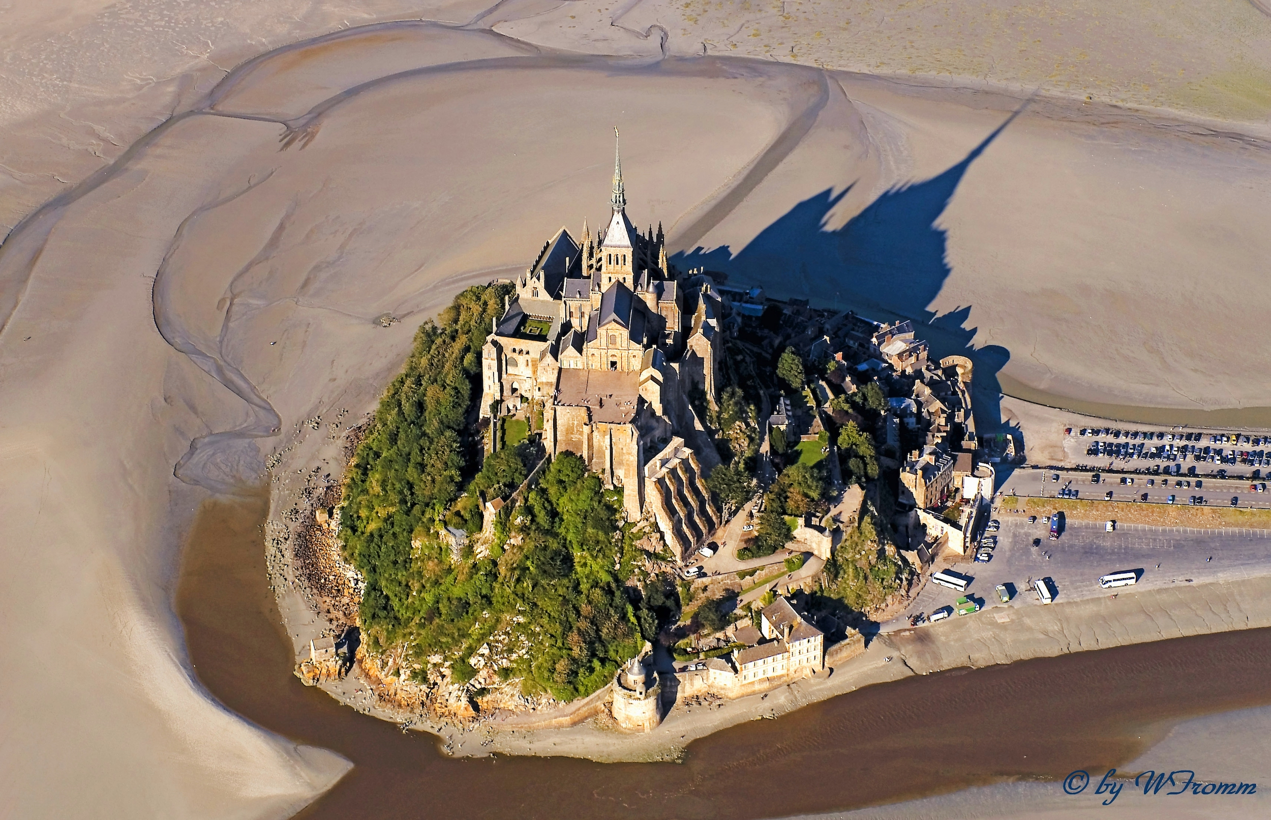 Mont Saint-Michel from above