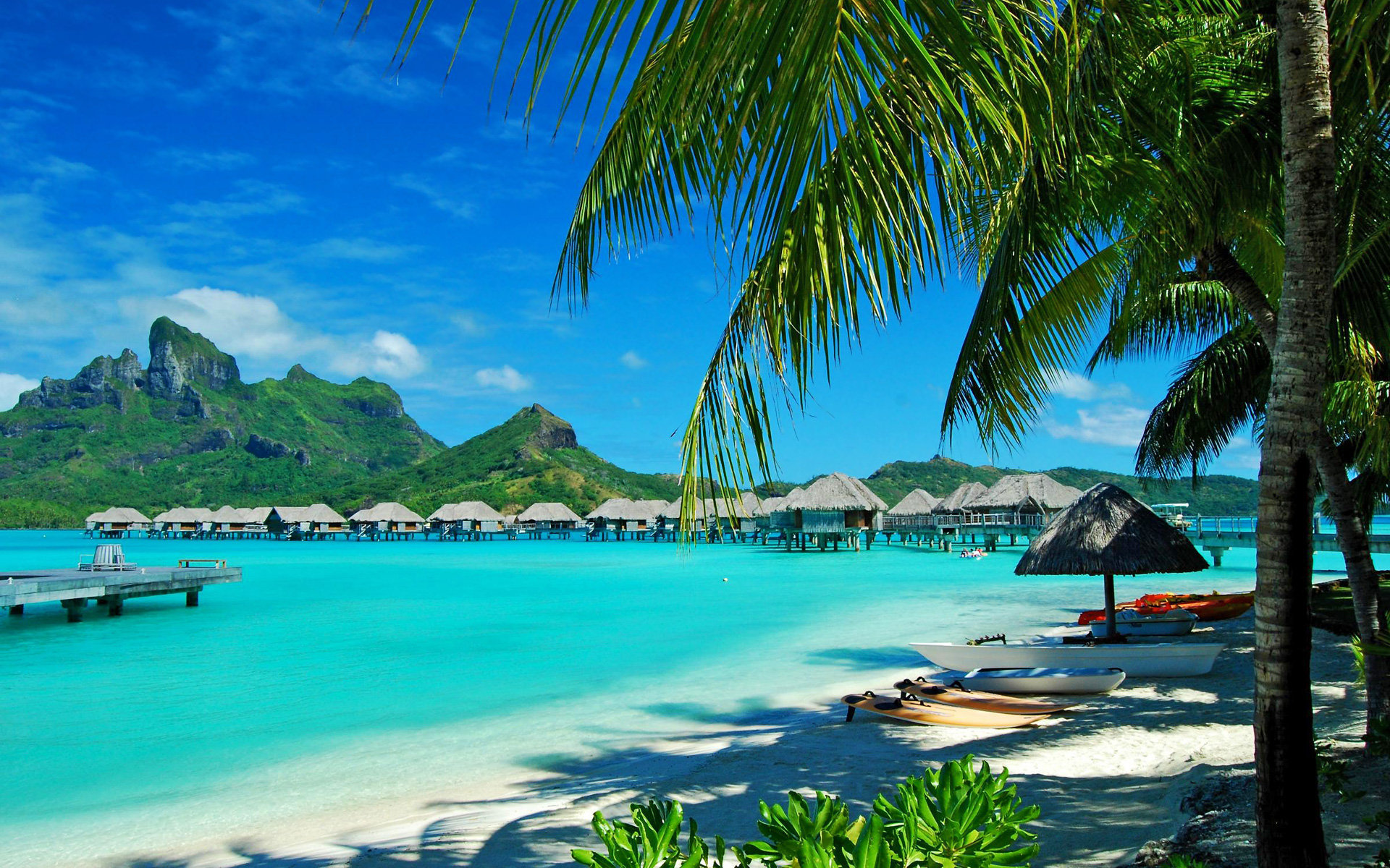 Beach resort, Bora Bora, French Polynesia
