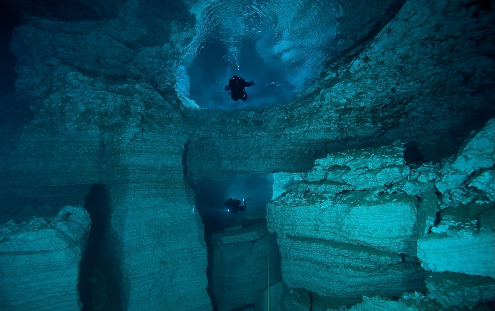 Marble Caves diving, Chile