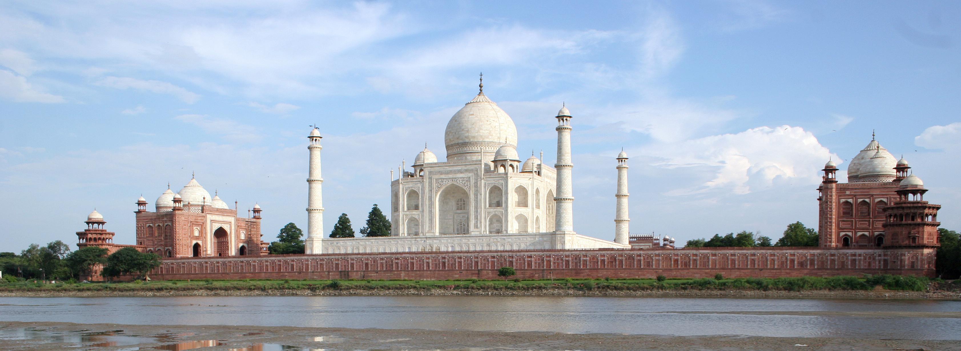Taj Mahal from across the Yamuna River