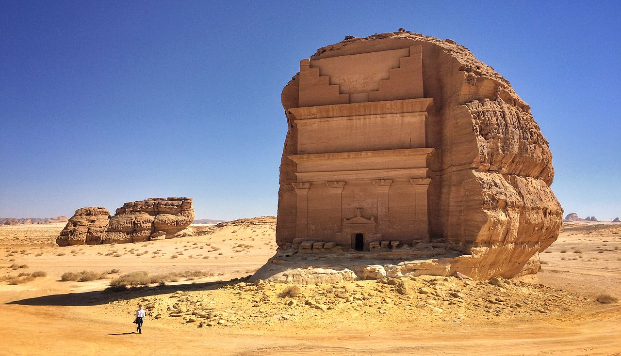 Qasr al Farid, tomb in Archeological site Mada'in Saleh, al-Hijr, Saudi Arabia