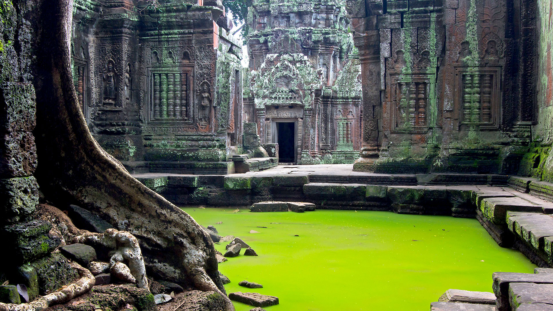 Angkor Wat old stones, Cambodia