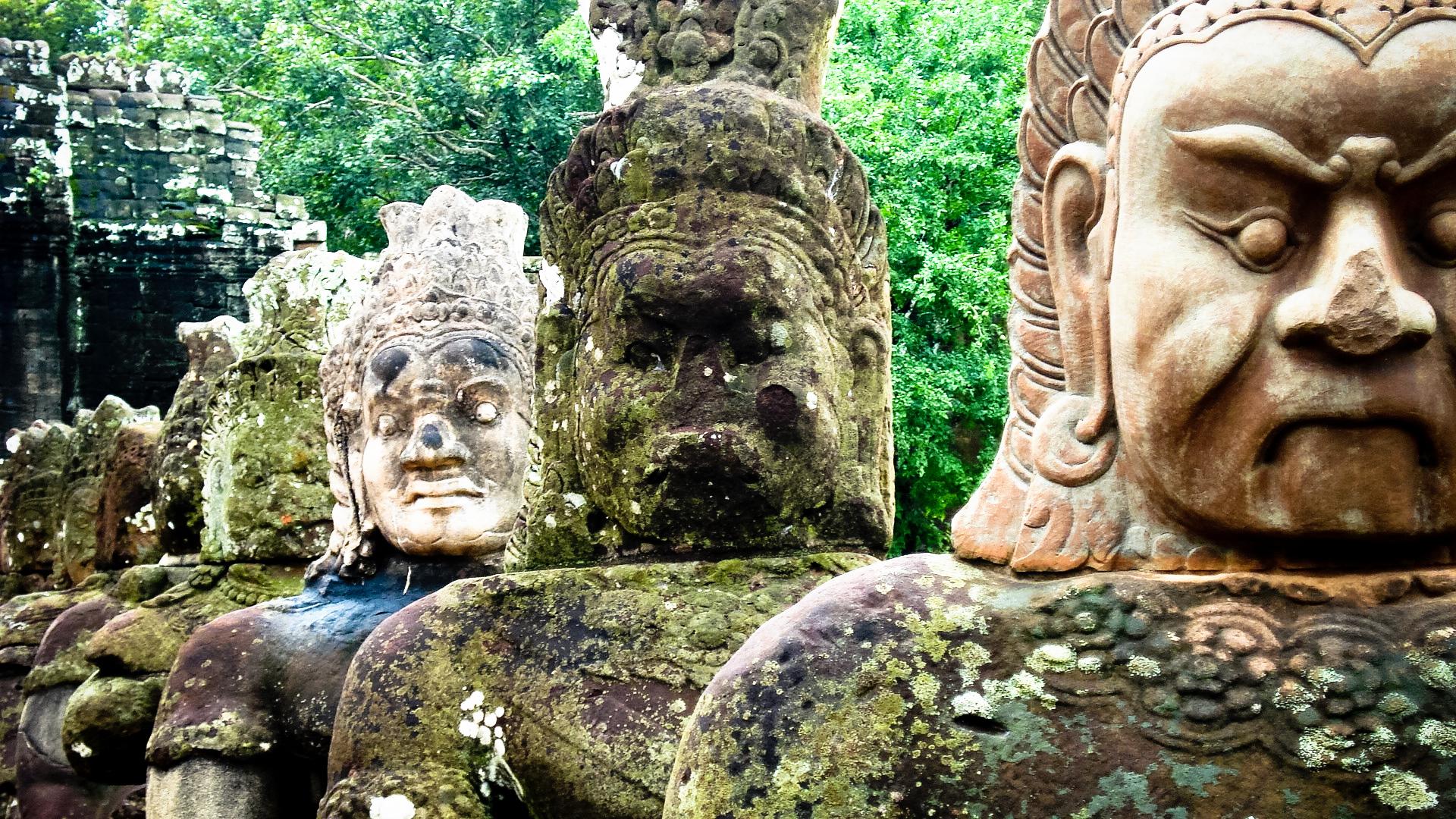 Angkor Wat statues, Cambodia